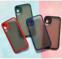 100 adet Toptan Evrensel Yeni Kontrast Renk Eyecare Telefon Kılıfı Için iphone 11 12 12pro 12pro Max Buzlu Koruyucu Kavar
