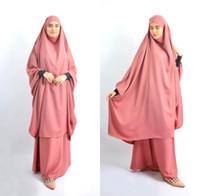 Abito da abbigliamento da preghiera musulmano Eid Donne Donne Abaya Jilbab Hijab Long Khimar Outfit Ramadan Abayas Abiti islamici Niqab Djellaba Burka