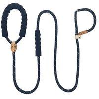 Colares Colares Lashes 1.65m Reflexivo Refletivo Durável Nylon Meio Grande Cães Gola Cobra Corda Para Labrador Rottweiler