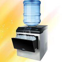 Máquina de hielo automática comercial 25kg / 24h eléctrico redondo bloque de hielo cubo fabricación máquina pequeña bar cafetería 1