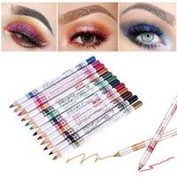 Eyeliner 12 Pcs set Mixed Colors Make Up Pencil Waterproof Eye Liner Beauty Pen Cosmetics Eyes Eyebrow Makeup Tools