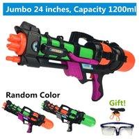 """Pistolet à eau de 24 """"Jumbo Blaster avec des sangles Goggles Kids Beach Squirt Jouet Boys Forfait 72XC Y200728"""