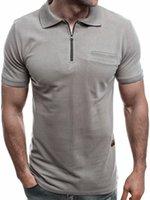 2020 Simples Homens Sólidos Lapela Casual Polo Camisa Homem Soild Cor Slim Slim Fit Manga Curta Verão Masculino Poloshirt