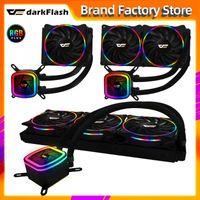 Fanlar Soğutma DarkFlash DT Su Soğutma PC Bilgisayar CPU 120mm RGB Fan 12 V Soğutucu Entegre Radyatör 2011 / AM3 + / AM4 AMD