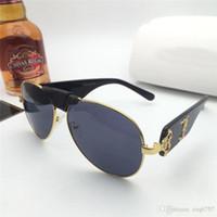Novo design de moda óculos de sol 2150 Quadro piloto Top Quality High-End Outdoor UV400 Protetora Óculos Atacado Estilo Minimalista Generoso