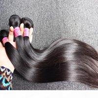 3pcs mycket silkeslen rak peruansk hårväv naturlig färg mänskliga hårförlängningar gratis frakt bella hår