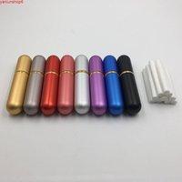 100pcs aromathérapie huile essentielle aluminium blank nasal inhalateurs nasaux avec mèche de coton de haute qualité (8 couleurs à choisir) High Qualtiy