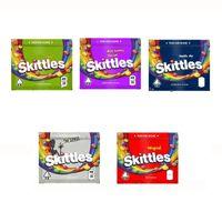Skittles 400mg Mylar Mylar Saco Esvazeto Seco Herb Flower Flower Saco de Zíper Bolsa de Embalagem Edibles Pacote Gummies Storage