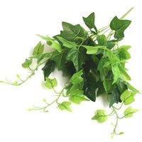 Flores decorativas grinaldas 1 pc Simulação Plantas Artificial Planta Filial Lifelike 9-Branch DIY Folha Haste Faux Pogal Adereços Home Decor1