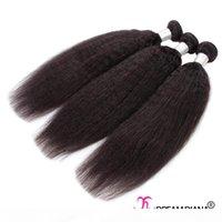 Качество 10a Mink Razillian Virgin Hair 3 или 4 связки kinky прямые 100% необработанные человеческие пакеты волос Яки Перуанские РЕММ