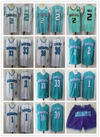 ErkeklerinCharlotteHornets33 Alonzo Yas 2 Larry Johnson 1 Bogues 30 Dell Curry 2 Lamelo Top Basketbol Şort Formalar