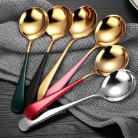 Sorvete Sobremesa Colher Candy Handle Café Café Colher de Ouro Aço Inoxidável Cozinha Bar Flatware Talheres Will e Sandy IIF4529
