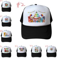 Bambini Adulto Designer Mesh Baseball Ball Caps Cocomelon JJ Snapback Summer Estate Mesh Visor Fumetto Sport Beach Cappelli casual LY10293