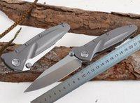 1 stücke High End Survival Taktische Faltklinge Messer D2 Satin Drop Point Blade TC4 Titan Legierung Griff Kugellager Faltmesser