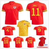 Erwachsene Kinder 2020 2021 Wales Bale Fußball Jerseys McGinn Lewis Shankland Findlay 20 21 Home Away Nationalmannschaft Fussball Shirts Uniformen