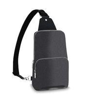 Avenue Sling Bag Mens Designer Cuero genuino Bolsos de Hombro Mans Lujos Diseñadores Cross Cuerpo Monedero Cartera Hobos Mensaje Bolso Tote