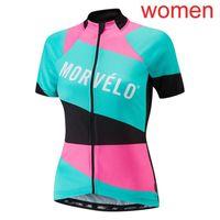 2021 Bayan Morvelo Takım Bisiklet Jersey Yaz MTB Bisiklet Gömlek Hızlı Kuru Kısa Kollu Bisiklet Giyim Açık Spor Üniforma Y21020607
