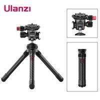 Stative Ulanzi MT-28 Faltbare Erweiterung Stativständer für DSLR Smartphone-Kamera Panoramischer Ballkopfkopf mit Kaltschuh