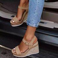 ساجاس أسافين الأحذية للنساء صيف جديد أزياء السيدات امرأة الصنادل خربة سكاريب دونا تاكو ساندي ساندالياس دي لاس موخيريس 1