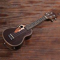 """Wholesale Spruce Ukelele 21 """"Ukulele Acoustic Ukelele avec sac Ukulele 15 FRET 4 Cordes Instrument de musique"""
