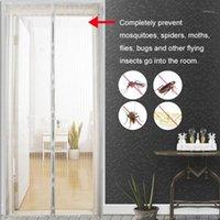 1 pc Início Use Mosquito Net Cortina Ímãs Malha De Porta Inseto Sandfly Netting com ímãs na tela Tela de malha 5 Tamanho1