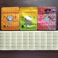 Koko Nuggz Runtz Baggies Yemekleri Mylar Çanta 500mg 0.5g Boş Paket Perakende Depolama Koku Geçirmez Fermuar Kılıfı