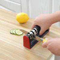 المطبخ سريع التنغستن الصلب مبراة ترقية ثلاثة المرحلة سريعة مبراة سكين شحذ أدوات شحذ الحجر vtky2302