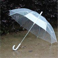 All'ingrosso trasporto libero 100pcs / lot vendita calda ombrello trasparente, ombrello chiaro, ombrello di moda 5color casuale