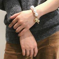 Bracelets Charm Kingdeng Для Женщин Золотые Ювелирные Изделия Подарок Жемчужной Шарик Улица Бить Личности Панк Цинс Сплав из бисера Браслет1