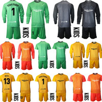 2020 2021 청소년 장시간 테르 스테게이 골키퍼 저지 키트 키트 축구 세트 Marc-Andre Ter Stegen Kid Boy Goalkeeper Jerseys Uniform Shorts