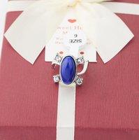Anel de anel de safira azul Turquesa Turquesa Mod étnica anel à venda barato prata a jóia do filme do vampiro diárias