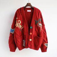 여성 디자이너 의류 여성 스웨터 겨울 카디건 캐시미어 블렌드 패션 여성 고품질 스웨터 3 색 Streetwear 스웨터