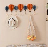 Wall decoration hook mHot Air Balloon rails metal wall pendant living room hot air balloon hanging wall decoration hooks