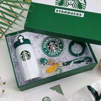 2021 Neu angekommen Heißer Verkauf Starbucks Becher Edelstahl Vakuumflasche Water Cup Bester Weihnachtsgeschenk mit Paketkasten