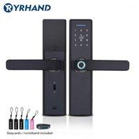 Smart Lock Yrhand отпечатков пальцев Цифровой код Electronic Door Home Security Mortise1