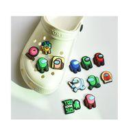 100pcs gratuits / lot mignon dessin animé de chaussures PVC Chaussures Chaussures Boucles de chaussures Action Figure Figure Bracelets Croc Jibz Chaussure Accessoires
