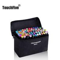Touchfive Art Markers Set Color Pen Animation Bosquejo Dibujo Copic Alcohol Anime Brush Pincher Pen (cuerpo negro) 201116