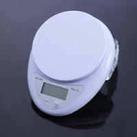Kleiner tragbarer LCD-Digital-Skala 5kg / 1g 1kg / 0,1g Küchenfutter präzise Kochskala Backenbilanz Messwaage VT1923