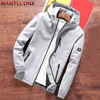 MANTLCONX New Mens Hooded Windbreaker Jacket Spring Autumn Casual Hoodie Jacket Coats Streetwear Fashion Male Outwear Brand 201223