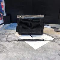Hohe Qualität Luxus Handtaschen Geldbörsen Krokodilstil Flap Bag Sunset Kette Brieftasche Frauen Umhängetaschen Mode Designer