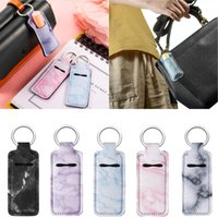 Portable Lipstick Holders Lip Cover Neoprene Keychain Marble...