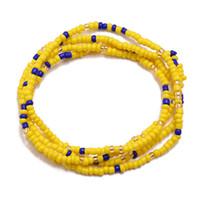 مجوهرات ملونة تصميم رايس الخرز الخصر وصلة بيكيني الجسم فتاة مثير المرأة الصيف الساخن سلاسل البطن