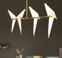 Modern droplight criativo pássaro sala de estar Restaurante Bar personalidade papercranes quarto lâmpadas e lanternas de luzes e lanternas
