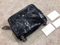 جودة عالية مصمم سلسلة حقيبة الكتف حقيبة يد المرأة مخلب حقيبة رسول حقيبة الكلاسيكية نيكي النفط النفط الشمع