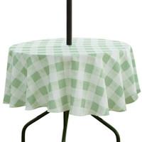 Ufriday открытый скатерть плед круглый стол ткань водонепроницаемый полиэстер из ткани таблицы с зонтиком на молнии для сада T200707
