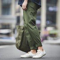 Pantaloni dell'esercito verde di Maden Pantaloni dell'esercito rettangolare Pantaloni casual rettangolari retrò uomo vintage nuovo stile cotone 201110