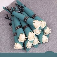 단일 줄기 인공 장미 목욕 비누 장미 꽃 꽃다발 발렌타인 데이 커플 선물 홈 장식 잘 0 95XL h1 판매