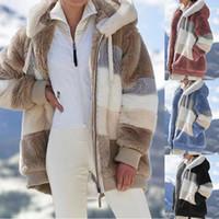 Vêtements d'hiver Femmes Polaire Polaire Laine Vestes Faux Fourrure Femme Femme Vêtements d'extérieur Lambes Vêtements En Peluche Peluche Trench Coat