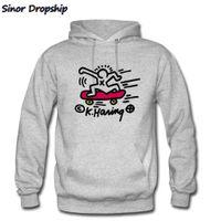Keith Haring Skate Pop Art Sweat-shirt Hommes Novelty Hip Hop Luxury Harajuku Outwear Anime Sportwear Mens Headies Hoody X1227