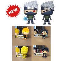 Pop Naruto Sasuke Kurama Itachi Kakashi Modell Figur Sammeln Modell Spielzeug für Geschenk mit Box LJ200924